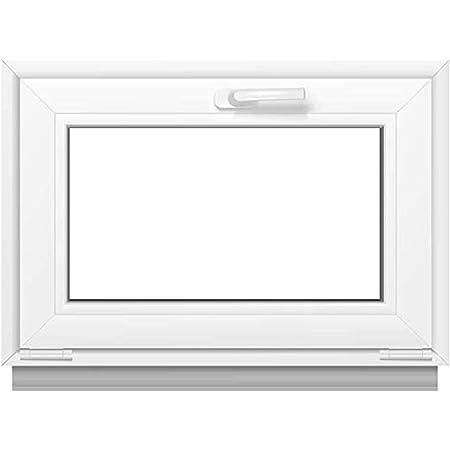 3 fach Verglasung BxH: 90x40 cm Breite: 90 cm x H/öhe: Alle Gr/ö/ßen Premium wei/ß Fenster Kippfenster Kunststofffenster