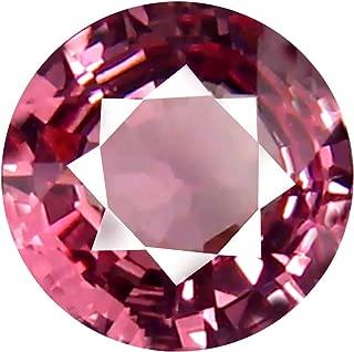 0.70 ct AAA+ Grade Round Shape (6 x 6 mm) Unheated Pink Malaya Garnet Natural Loose Gemstone