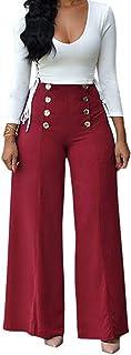 0a25d3f312 Amazon.it: Pantaloni a zampa - Rosso / Donna: Abbigliamento