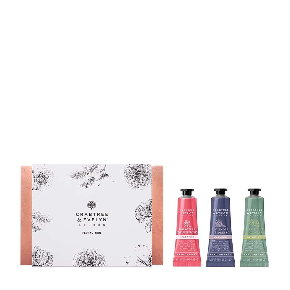 数字億キノコクラブツリー&イヴリン Floral Hand Therapy Trio (1x Pear & Pink Magnolia, 1x Rosewater & Pink Peppercorn, 1x Lavender & Espresso) 3x25ml/0.86oz並行輸入品