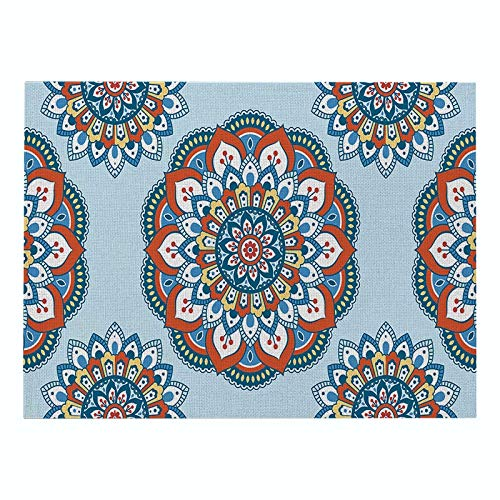 Z-LIANG Geometric Patterns Simple Style Distinctive Placemat Table Napkin Dining Table Mat Bowls Drink Coasters Kitchen Accessories Decoration (Color : CD011 11, Size : Polyester Hemp)