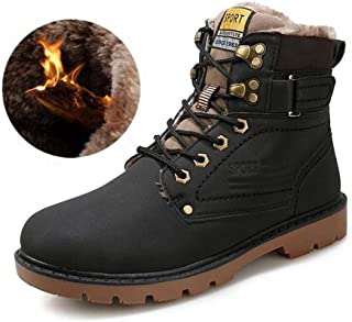 ae21517269d 2018 Hombre Botas de Seguridad Invierno Botas Martin Zapatos de Piel de  Cuero cálido Forrado no