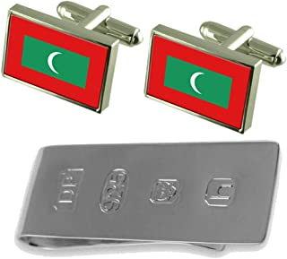 Maldives Flag Cufflinks & James Bondお金クリップ