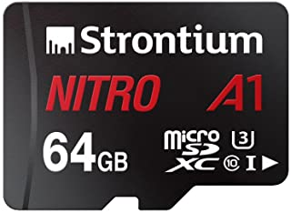 Strontium Nitro A1 64GB Micro SDXC Memory Card 100MB/s A1 UHS-I U3 Class 10 with High Speed Adapter for Smartphones Tablet...