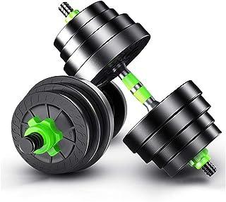 Adjustable Fitness Dumbbells Set Large Dumbbells Barbell Gym Rubber Encased Metal Handles Strength Weight Iron 15Kg 20Kg 30Kg
