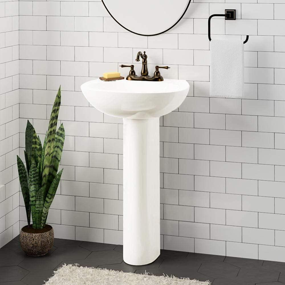 Magnus Home Recommendation Products Solon 100 Bathroom Vitreous free shipping China Pedestal