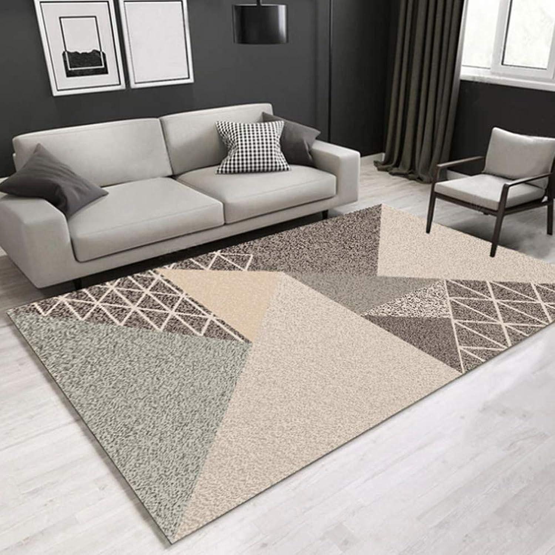 AWLLY 3D bedruckter Teppich Grau Rechteckiges Design Dick Moderner geschnitzter Teppich Wohnzimmer Sofa Schlafzimmer Kaffetisch Teppichmatte Raumdekoration,120  160cm
