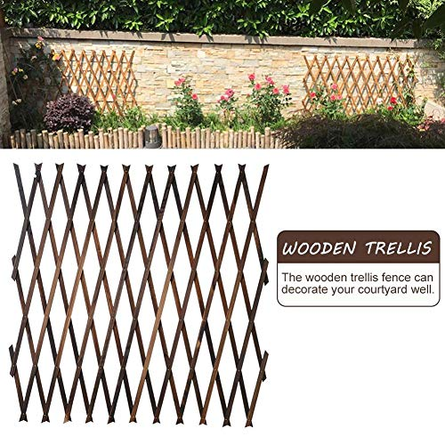 N/Z Holzgitter, Blumenständer Korrosionsschutz Anti-Insekten-Faltung Holz Erweiterbare Spalierzaun-Paneele, Garten Im Freien Erweitern Sie Die Stützkletterpflanzen