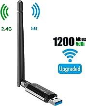 Wireless USB WiFi Adapter for Desktop – 1300Mbps 5G/2.4G 802.11AC 5Dbi Antenna WiFi..
