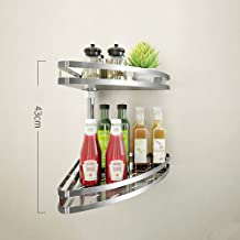 FEI Teng Corner Racks Stainless Steel Wall Hanging 2/3 Spices Kitchen Storage Rack (Size : C)