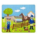 Farmer w/Horses, Cow & Chickens Felt Storyboard