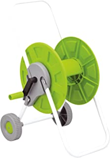 Parkland 60m Lightweight Portable Hose Pipe Reel Holder Trolley Cart Garden Watering Pipe Cart Free Standing for Patio, De...