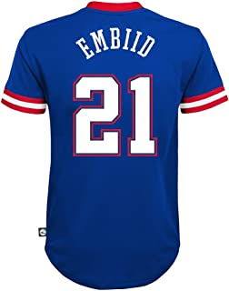 Outerstuff Joel Embiid Philadelphia 76ers #21 Short Sleeve Player Name & Number Performance Jersey