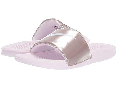 Nike Kids Kawa Slide Metallic (Little Kid/Big Kid) (Arctic Pink/White/Metallic Red/Bronze) Girls Shoes