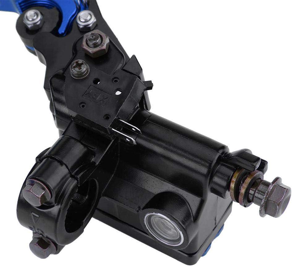 Blue Leve del Cilindro Principale Freno e frizione,1 paio 7//8 Leve del serbatoio del cilindro maestro frizione freno moto universale 22mm