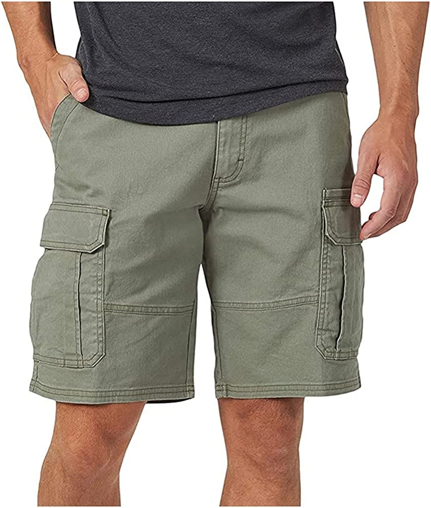 NP Cargo Shorts Men Cool Solid Color Summer Casual Men Short Pants