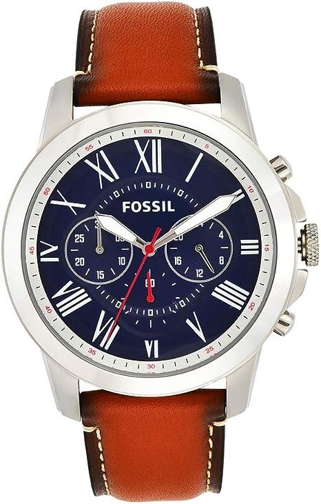 Fossil Men's Grant Stainless Steel Chronograph Quartz Watch