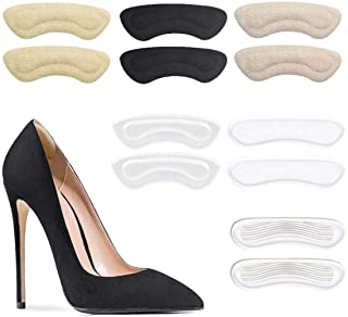 6 Pairs Heel Cushion Pads - Reusable Soft Shoe Pads & Self-Adhesive Foot Care Protector Grips Liners Loose Shoes - Heel Pain Relief Bunion Callus Blisters