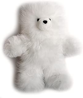 Baby Alpaca Fur Teddy Bear - Hand Made 18 Inch White