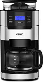 Gevi Grind and Brew Coffee Maker 10 Cups Drip Coffee Machine for Kitchen and Office ,Silver Color
