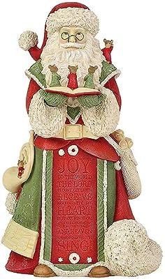 "Enesco Heart of Christmas Santa's Christmas Concert, 6003888, Stone Resin, Multicolor, 8.19"""