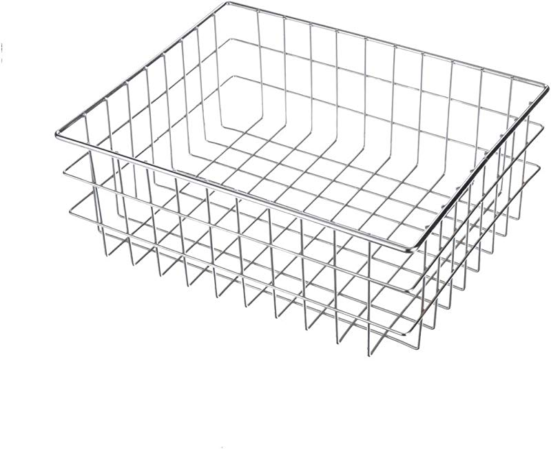 Marlin Steel Plain Steel Utility Basket Chrome Plated 16 L X 13 W X 6 H