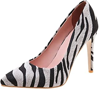Melady Women Fashion Pumps Stiletto Heels Animal Print