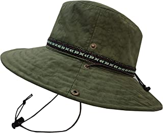 SUNS(サンズ)アドベンチャーハット サファリハット レインハット 帽子 ハット 登山 撥水 防水 メンズ レディース サイズ調整 UVカット アウトドア カラフル あご紐 H-053
