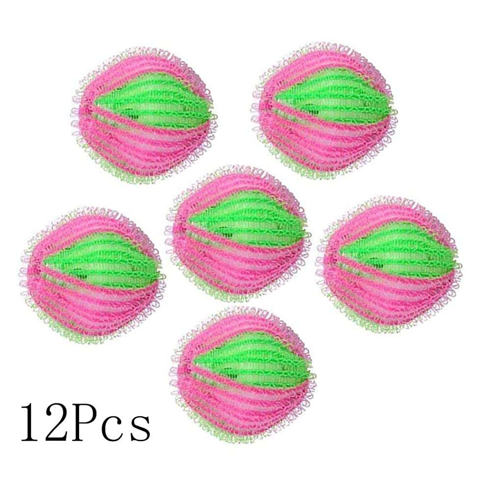 Rventric Washing Ball Laundry Ball Strong Cleaning Pet Feathers Hair Attached to Clothes Reusable 12PCS Multifunction