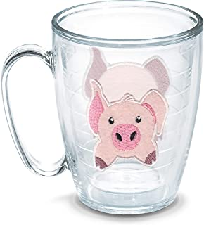 Tervis Front & Back Pig Insulated Tumbler, 16oz Mug - No Lid, Clear - Tritan