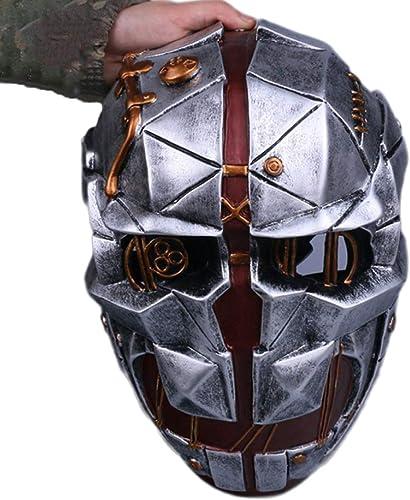 SDKHIN Schande 2 Demütigung 2 Maske Corvo Cosplay Halloween-Meuchelmörder-Masken Cosplay Masquerade-Maske,Silver-OneGröße