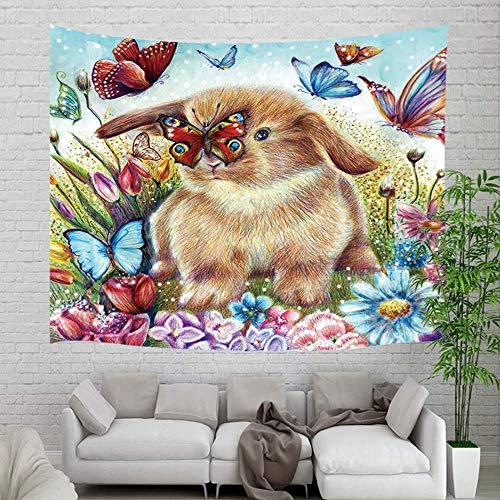 Tapestry Tapiz de cola de sirena de peces de mar de hadas mágicas, sirena de vida submarina de castillo de océano en bañera Tapestries 80X60inch