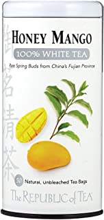 The Republic of Tea Honey Mango 100% White Tea, 50 Tea Bag Tin