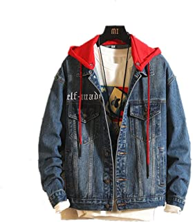 F1rst Rate Women Button Down Denim Jean Jacket with Drawstring Hood