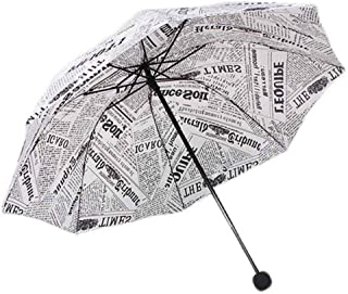 Originality Newspaper Three-Folding Style Umbrellas Rain Women/Men Cheap Fashion Bumbershoot