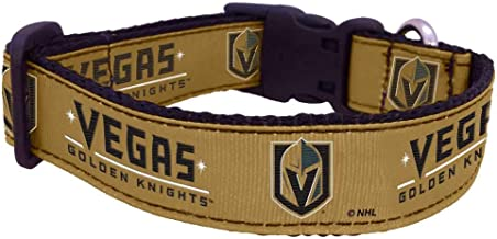 product image for All Star Dogs NHL Vegas Golden Knights 655257719146 Sports Fan Pet Collars, Vegas Gold, Medium