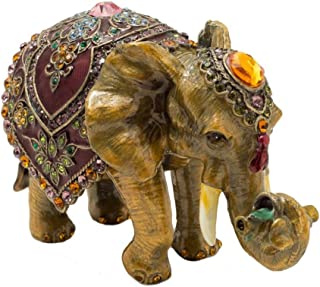 Image of Beautiful and Unique Elephant Trinket Box