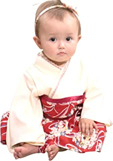 Sweet Mommy 袴 ロンパース ベビー 女の子 着物 カバーオール 日本製和柄ちりめん オーガニックコットン身頃