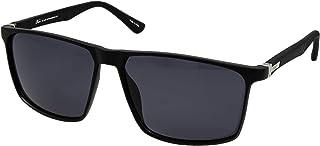 نظارات بنمط رترو 5028 C:1 للرجال لون اسود (لون واحد)، (مستقطبة)