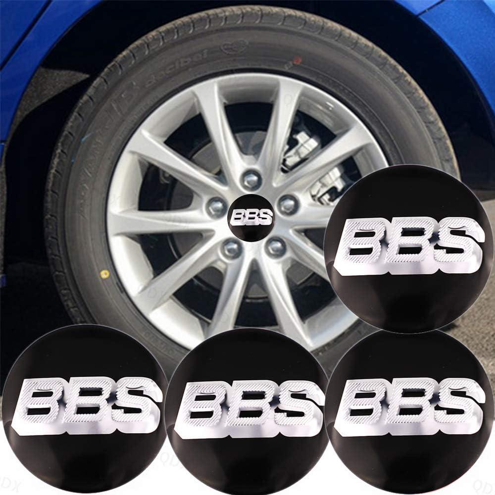 Steering Wheel Labeling BBS Logo 2.2 QDX 4Pcs Badge Wheel Stickers Anti-Rust Car Hub Cap Cover Stickers Aluminum Car Tyre Logo Center Cover Label Sunscreen Wheel Hub Cover Stick 56mm Black