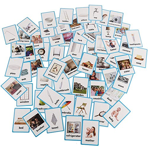 Basic English Vocabulary Cards /& Cards Pocket for Kids 13.5x9.2cm Preschool Educational Learning English Games /& First Words Cards Memory Game SANCENT 12 Pcs Shape Flashcards ingl/és