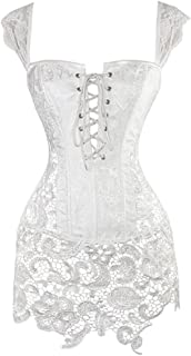 Miracle Womens Faux Leather Corset Steampunk Sexy Overbust Plus Size Burlesque Corset Lingerie Bustier