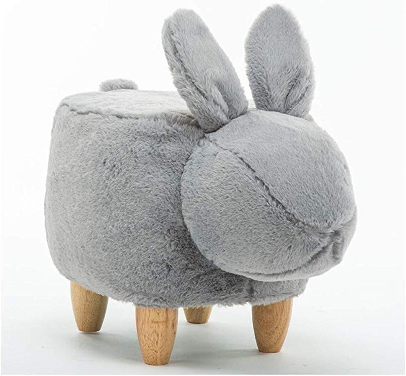 Carl Artbay Wooden Footstool Creative Shoes Bench Shoes Bench Modern Minimalist Household Storage Bench Test Shoes Bench Footstool Rabbit Detachable Home Color Gray