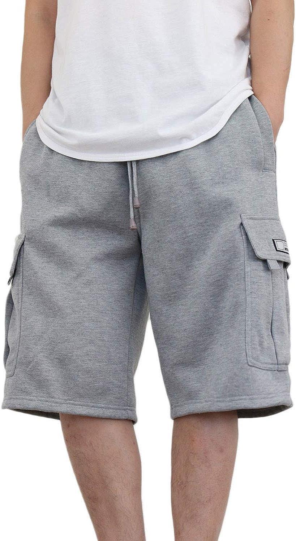AIRNINE Men's Fleece Cargo Sweatpants SweatShorts Heavyweight S-6XL