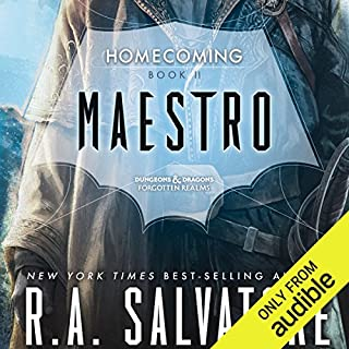 Maestro     Legend of Drizzt: Homecoming, Book II              By:                                                                                                                                 R. A. Salvatore                               Narrated by:                                                                                                                                 Victor Bevine                      Length: 13 hrs and 6 mins     2,364 ratings     Overall 4.8