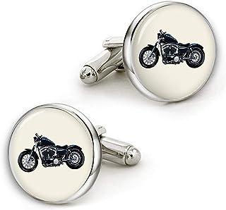 Kooer Motorcycle Cufflinks Custom Personalized Wedding Cuff Links Vintage Bronze Cufflinks Tie Clip Set