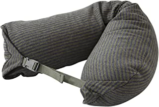 LBMUJI 【Counter genuine】 MUJINeck pillow neck pillow for airplane travel neck pillow for car Sofa pillow U-pillow (Specifications 16x67cm, Ma green stripes)