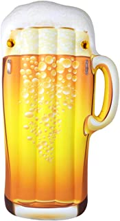 Jet Creations Inflatable Beer Mug Pool Float for Adults, Size 72 inch Tall Party Supplies and Favors, Gifts, floaties, Lounger FUN-BEER01
