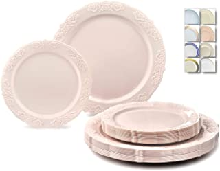Best blush pink party plates Reviews