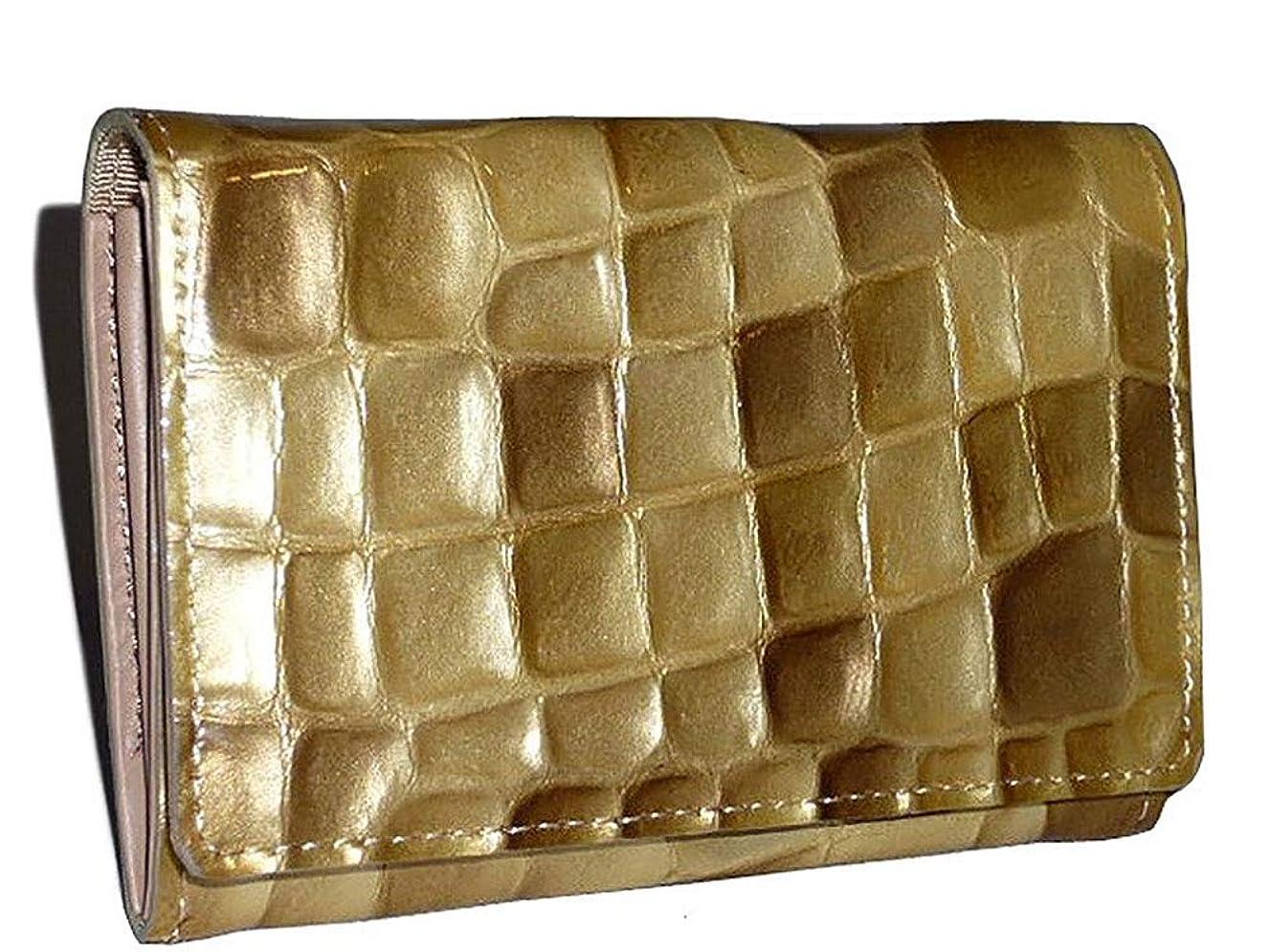 従事する編集する建てるアルカン 宝石のような財布 日本製(MADE INJAPAN) メテオール 名刺入れ 3240302 3248-308 レディス エナメル